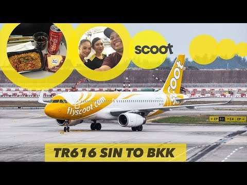 SCOOT Airlines VLOG | Nasi Goreng Tom Yum YUMMY! | TR616 Singapore to Bangkok