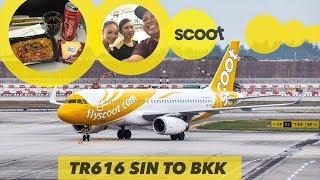 SCOOT Airlines VLOG | Nasi Goreng Tom Yum YUMMY! | TR616 Singapore to Bangkok
