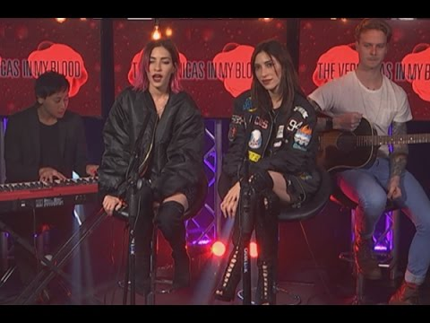 The Veronica's perform acoustic version of 'In My Blood'
