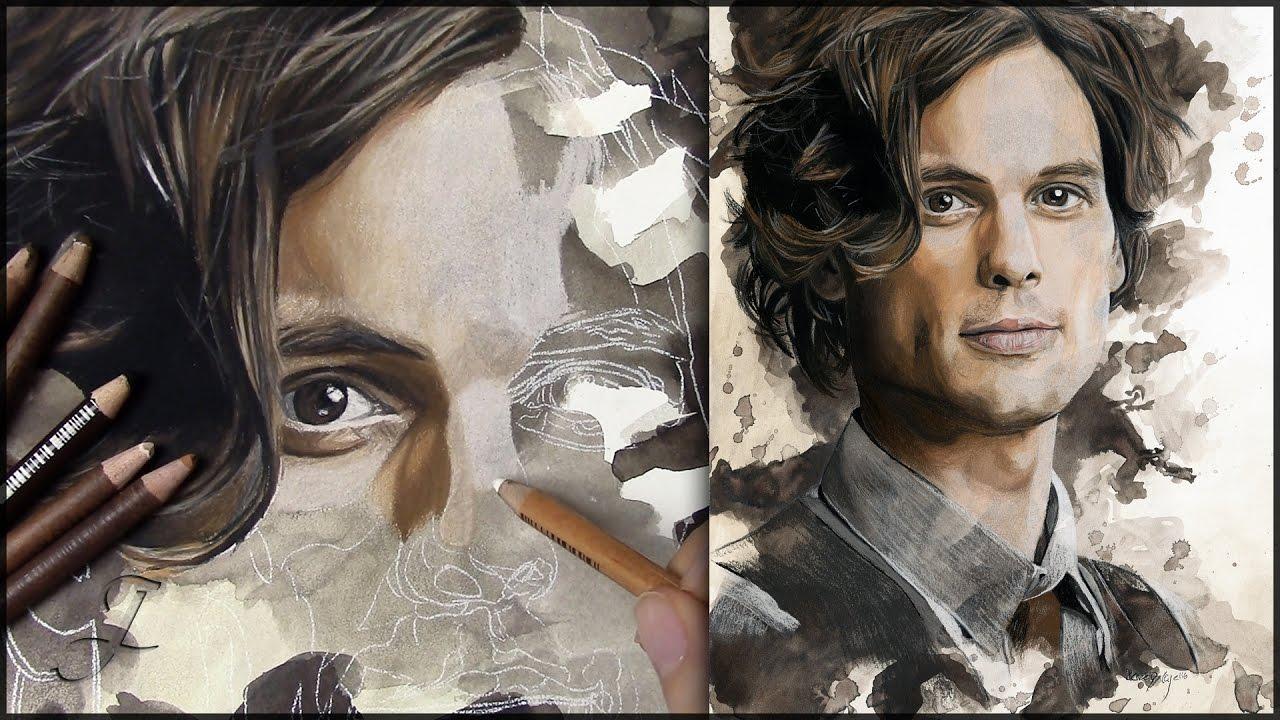 Dr Spencer Reid Matthew Gray Gubler Criminal Minds Pastel