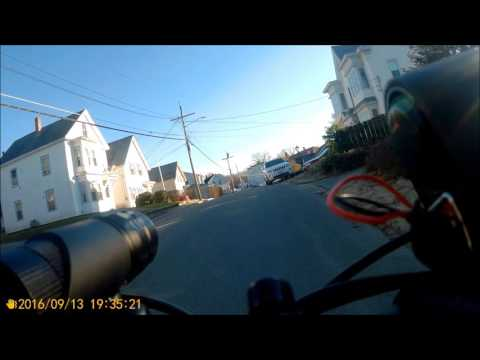 Ebike Tour through mountain town Fitchburg MA(2nd hilliest town in America) On Electric Fat Bike