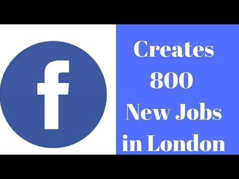 Facebook creates 800 jobs in London office