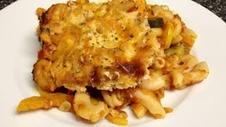 Recipe! Italian Baked Macaroni & Squash Casserole - Weight Watchers 3 1/2 Points! (meatless)