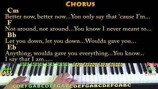 Better Now (Post Malone) Piano Cover Lesson in Bb with Chords/Lyrics  - Arpeggios Video