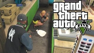 GTA 5 THUG LIFE #1 - HOW TO ROB PLACES!