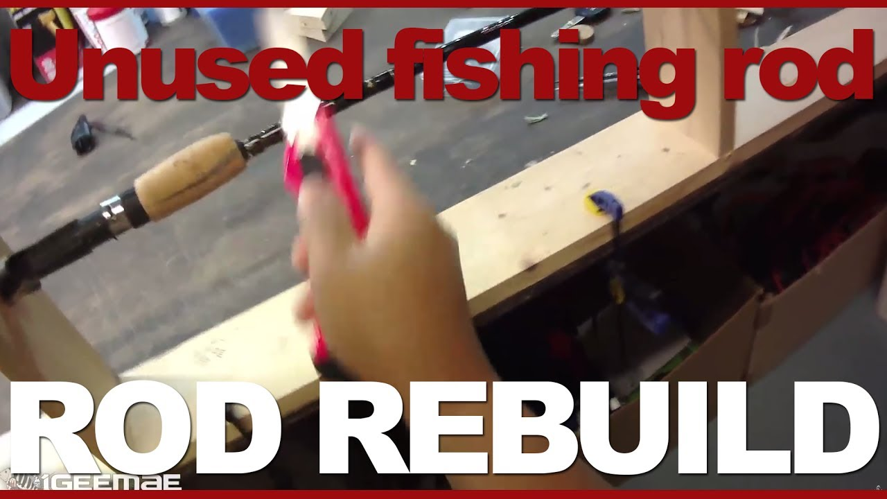 Rod building 01 how to make unused fishing rod to for Make your own fishing rod