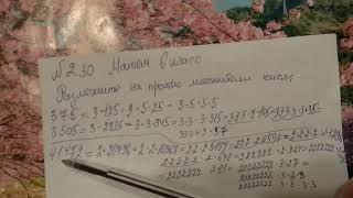 230 математика 6 класс. Разложить на простые множители числа