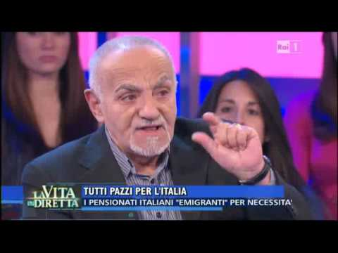 Vivere da Pensionati in Bulgaria Franco Tenca alla Vita in diretta RAI 1 del 25 aprile 2016