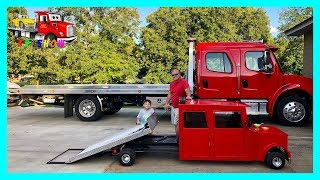 Kruz Challenges His Dad Loading and Unloading Cars