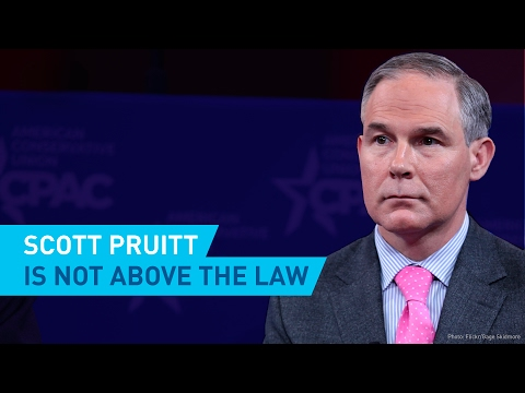 Scott Pruitt Is Not Above The Law