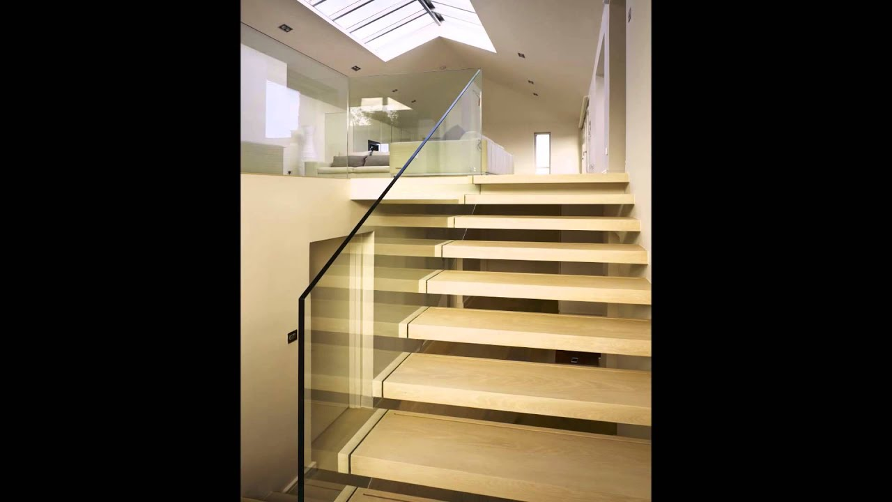 Floating Glass Stair Designs - Cantilever Stairs