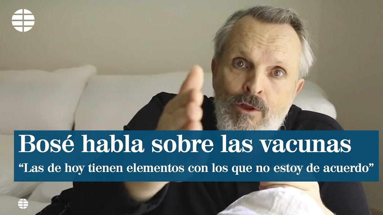 """Miguel Bosé habla sobre las vacunas: """"Hoy tienen otros elementos con los que yo no esto de acue"""