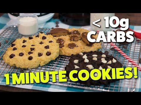1 Minute Microwave LOW CARB Cookies