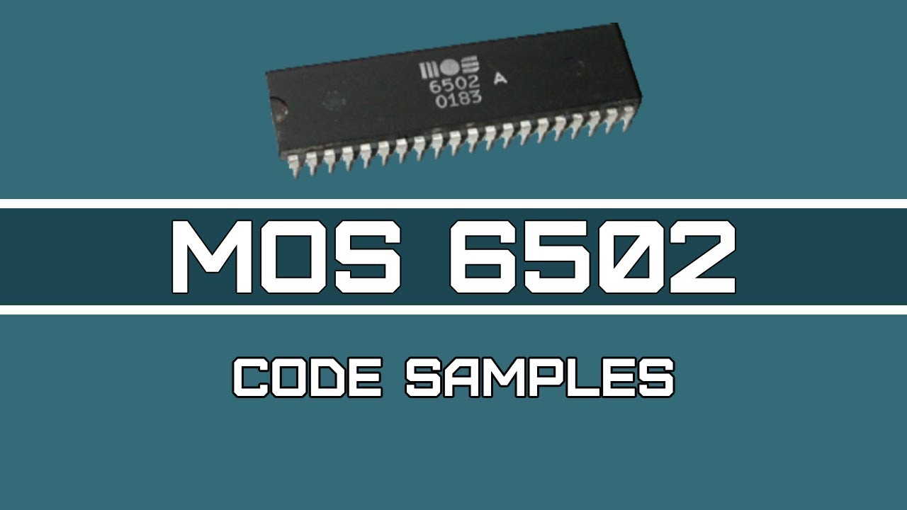 6502 Assembly Programming - Video 15(Last): Examples