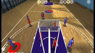 Tactic3D Basketball sample 3D play  : screen with shoot on wing