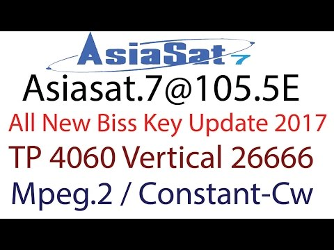 ✨ Asiasat 7 all biss key 2017 | All Biss Key Satelilte Asiasat 5