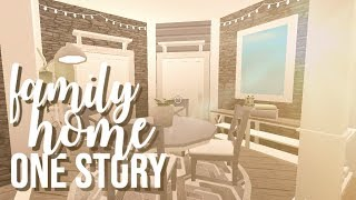 ROBLOX || Bloxburg: One Story Family Home (House Build) 100k ♡