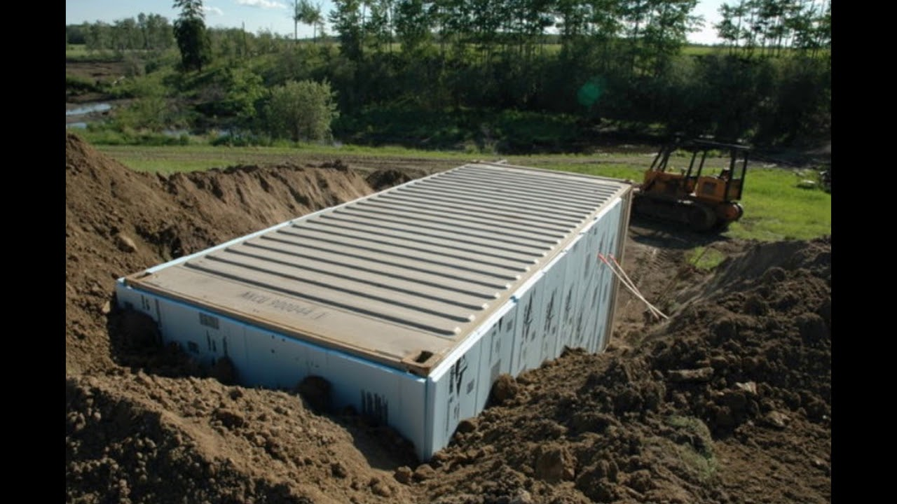 Best Kitchen Gallery: Advice For Preppers Burying Shipping Containers Youtube of Buried Storage Container on rachelxblog.com