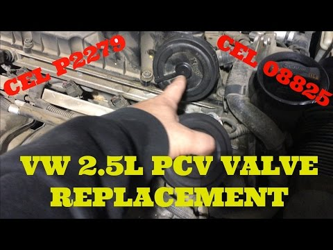 How to Replace a PCV Diaphram on a VW 2.5L 5 Cylinder Engine (CEL CODE P2289, 08825)