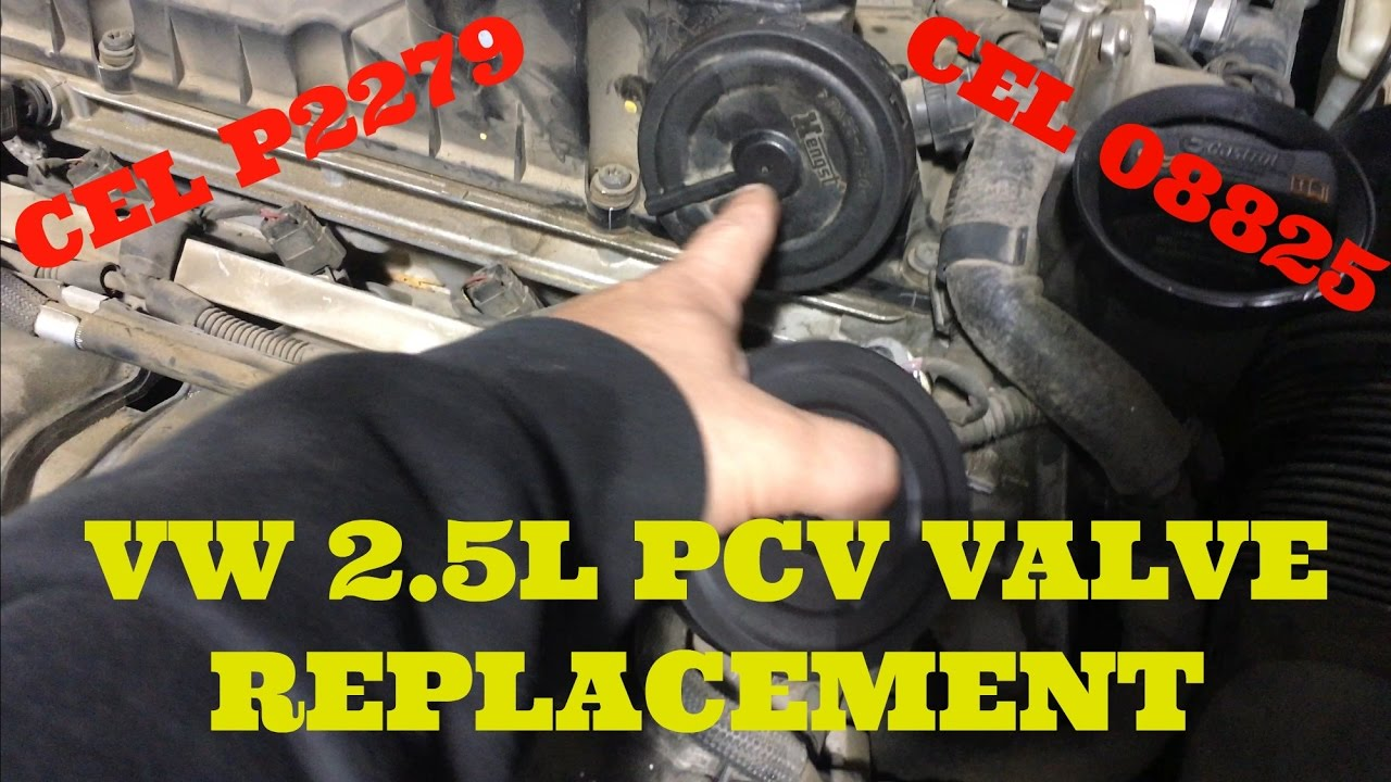 How to Replace a PCV Diaphram on a VW 25L 5 Cylinder Engine (CEL CODE P2289, 08825)  YouTube