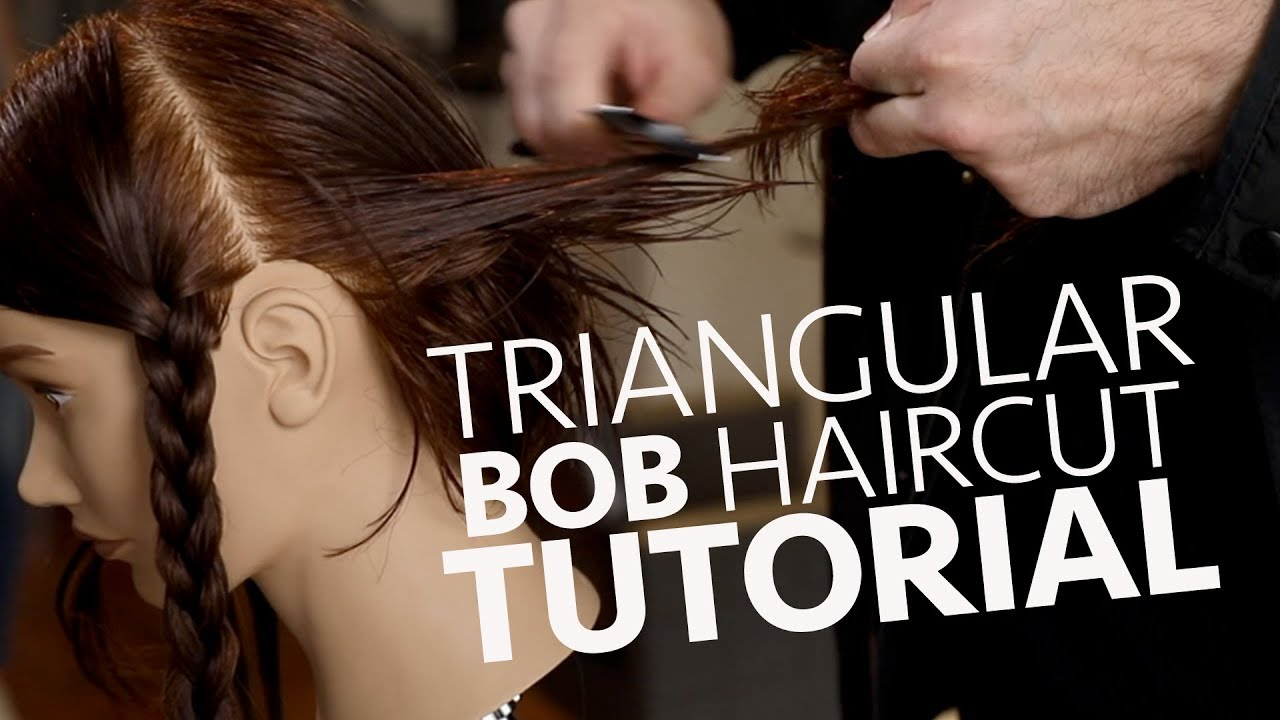 Triangular Bob Haircut Tutorial with a Razor