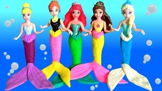 Play Doh Princesas Sereias Anna Elsa Ariel Cinderela Bela