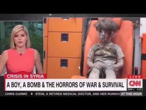 Presentadora de CNN llora al ver a Omran Daqneesh