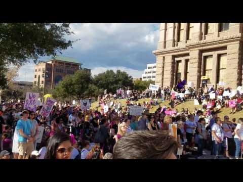 Women's March in Austin 01.21.17 - Wendy Davis speaking