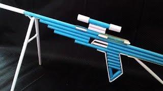 як зробити з паперу гвинтівку яка стріляє папером