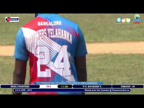 ROCKERS Y. VS REAL FIGHTERS MATCH ,SAKALESHAPURA CRICKET LEAGUE , 2017