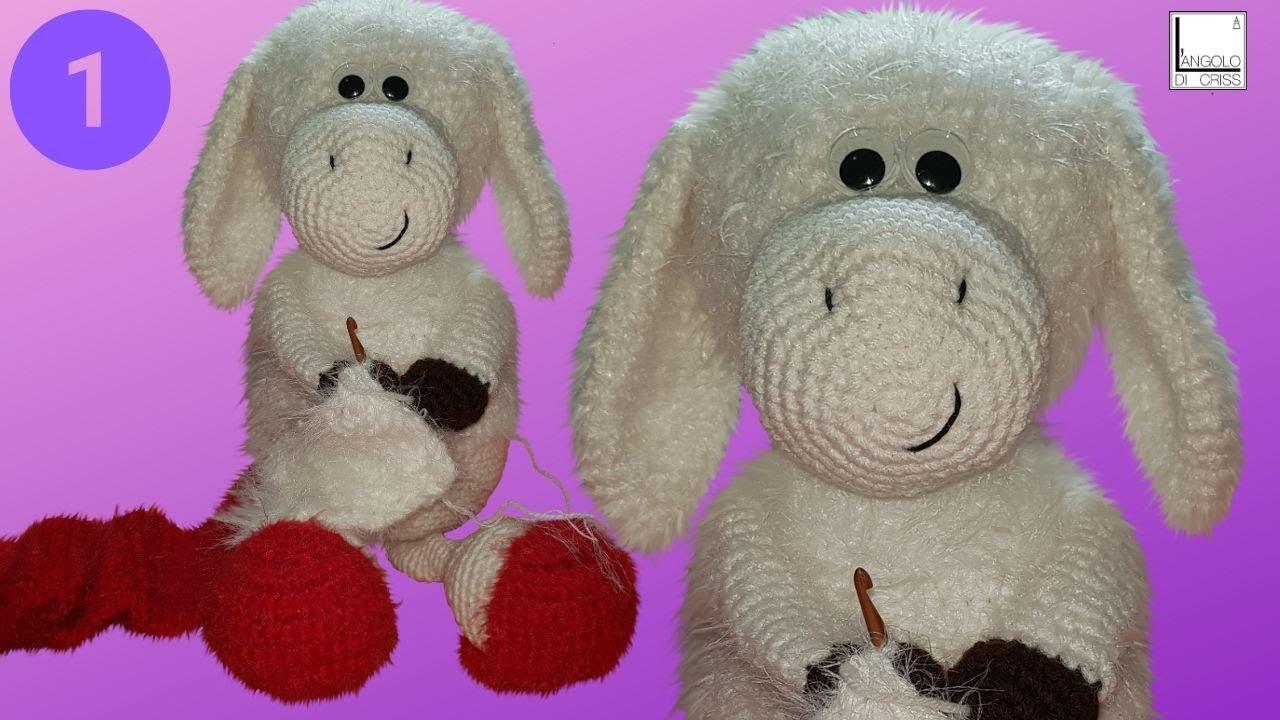 Pecora Amigurumi Tutorial - Crochet Sheep (Eng Sub) Oveja Crochet ... | 720x1280