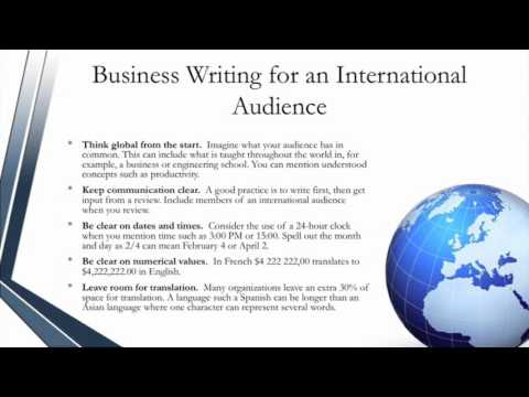 Certified Technical Writer - How to Approach Technical Writing for a Global Audience