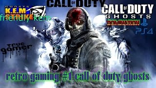 retro gaming #1 call of duty ghosts 2016 gameplay on playstation 4 playing domination