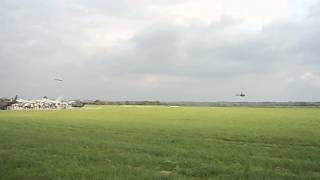 Arrival of four helicopters. NATO Days in Ostrava, Czech Republic.