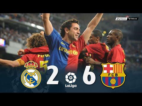 Real Madrid 2 X 6 Barcelona ● La Liga 08/09 Resumen Y Goles HD