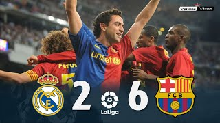 Real Madrid 2 x 6 Barcelona ● La Liga 08/09 Extended Goals & Highlights HD