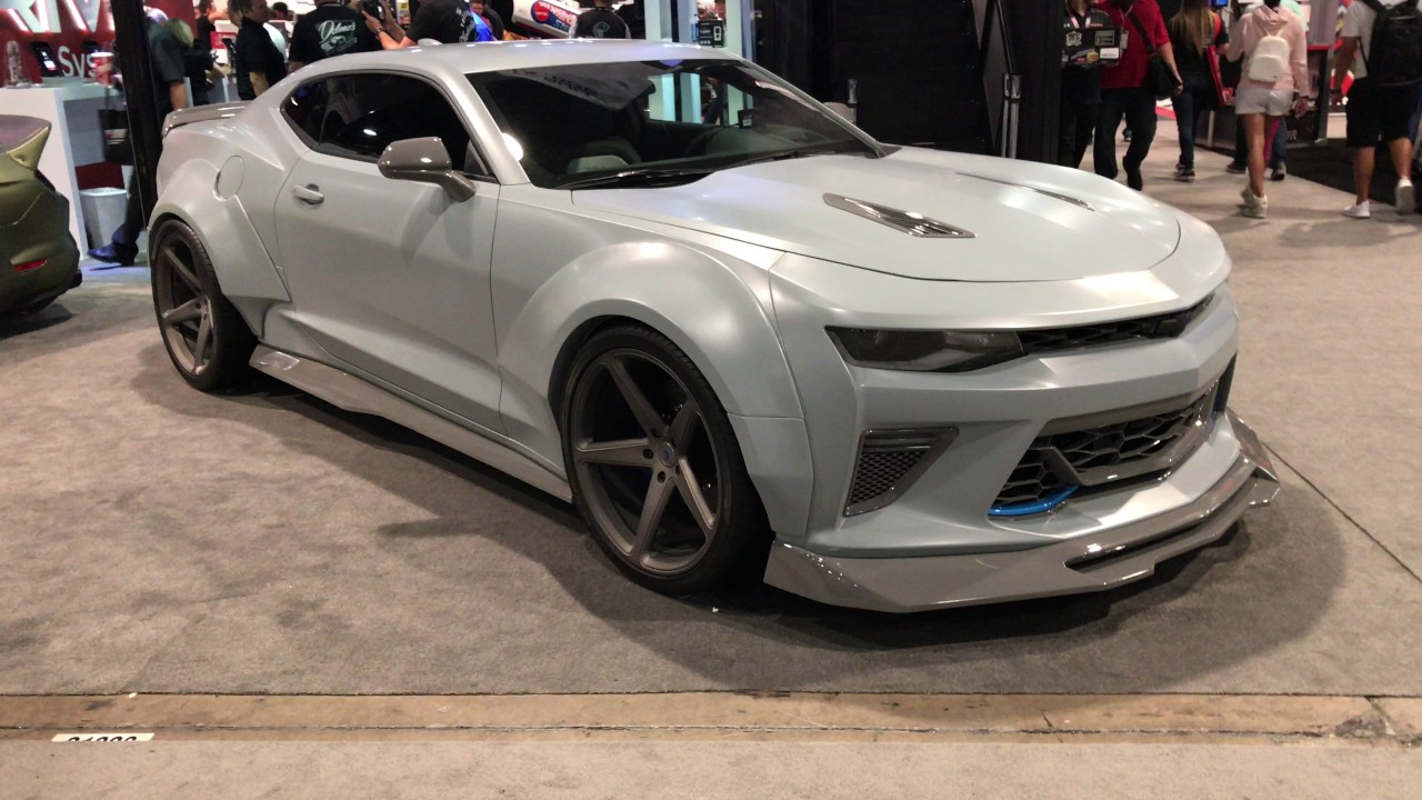 Sema 2016 Widebody Chevrolet Camaro Ss Walkaround 4k