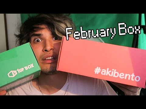 SER MUCH ANIMU N' GAMIN STUFFS!! | Akibento + 1UpBox February 2016: Double Unboxing