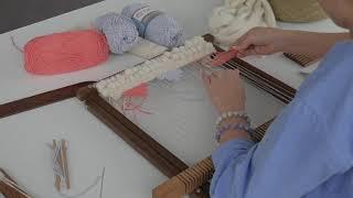 Видео урок. Современное ткачество. Гобелен