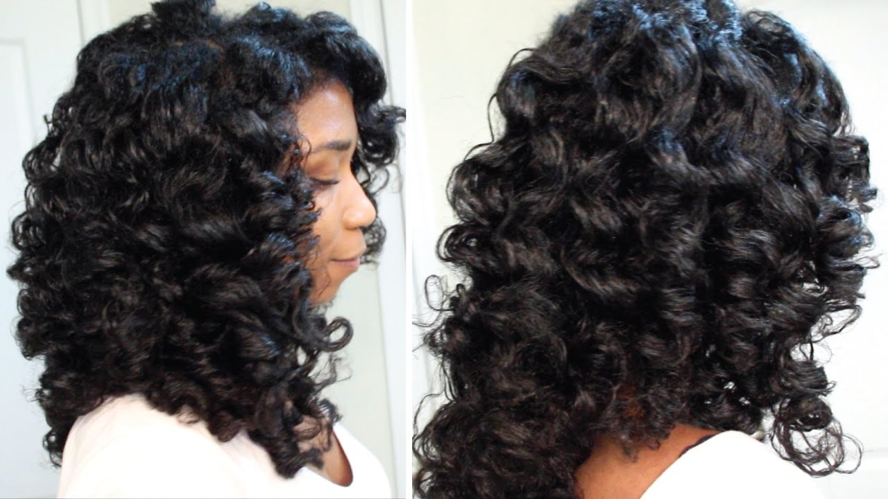 How To Style Permed Hair After Shower Prepossessing How To Cheat A Perm Rod Set  Easy Technique Heatless Soft Curls .