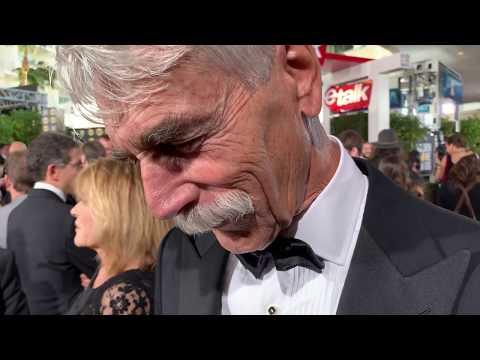 Sam Elliott  ('A Star Is Born') on the 2019 Golden Globes red carpet