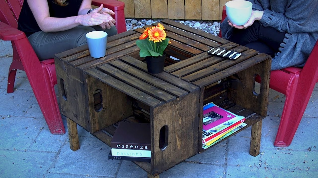 Diy Wooden Crate Coffee Table Home Decor Youtube