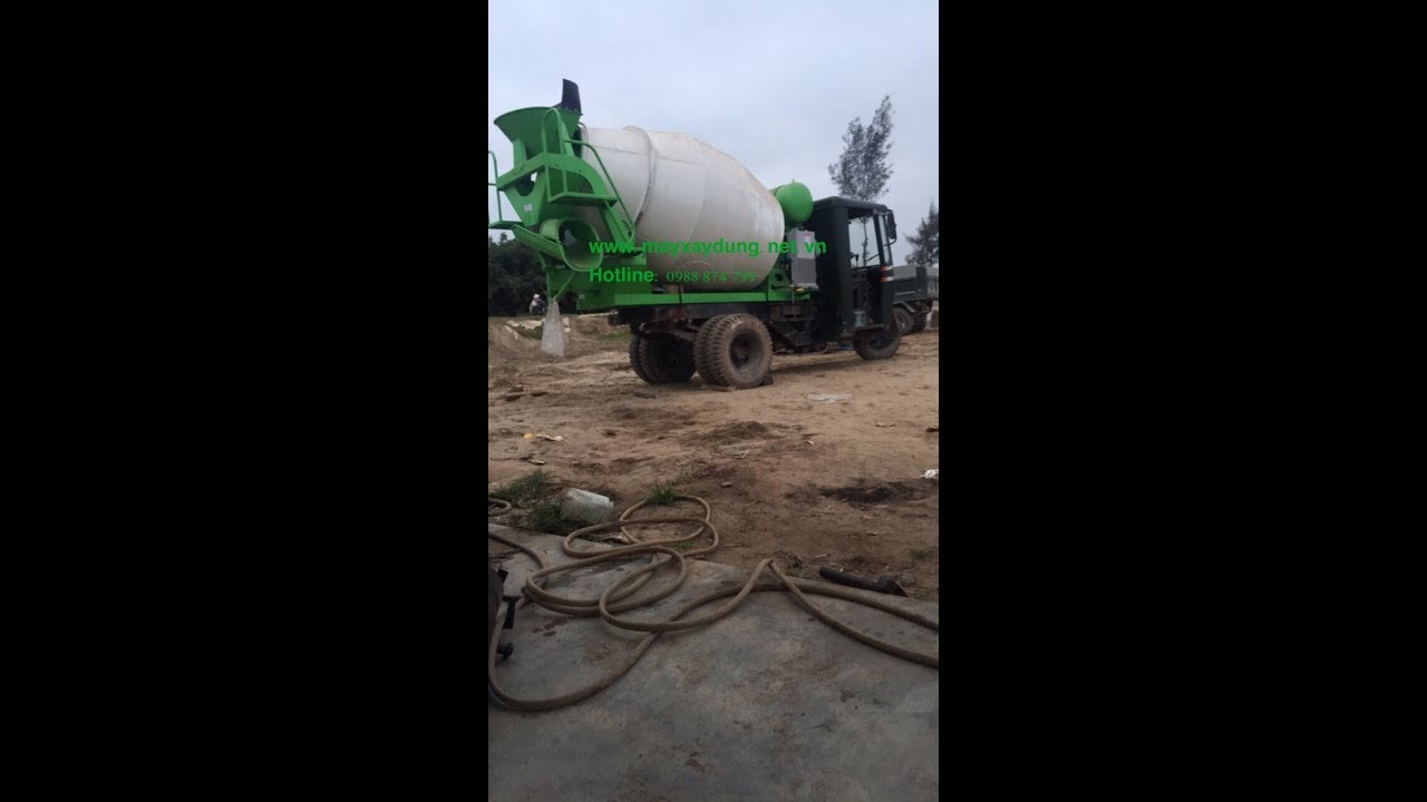 Bồn trộn bê tông 2m3, 2 khối hàng nhập khẩu lắp lên xe công nông chạy hiệu quả 0988874799 - YouTube