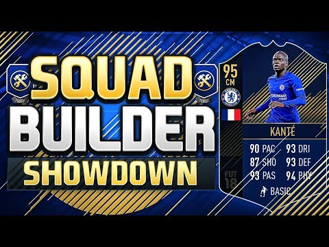 FIFA 18 SQUAD BUILDER SHOWDOWN!!! TEAM OF THE YEAR KANTE!!! The Best Squad Builder Showdown Ever!?!