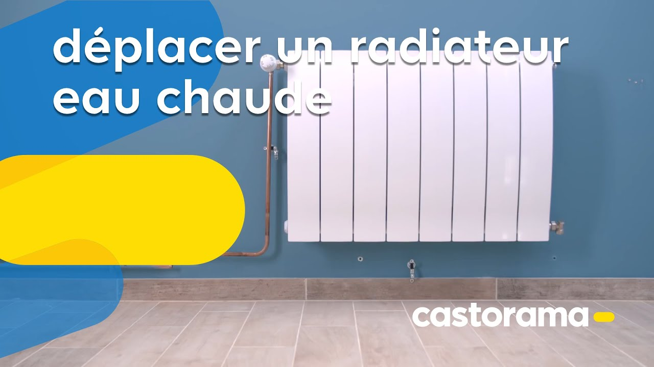 comment d placer un radiateur eau chaude castorama youtube. Black Bedroom Furniture Sets. Home Design Ideas