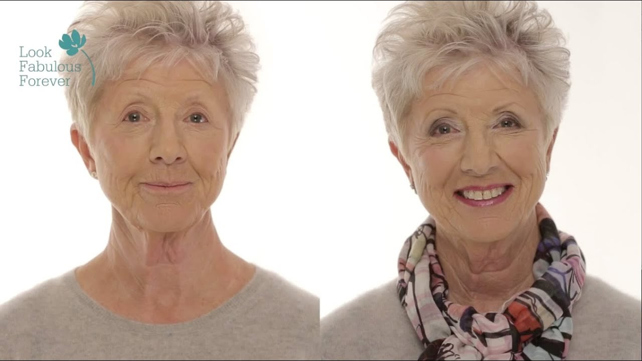 makeup for older women define your eyes and lips over 60