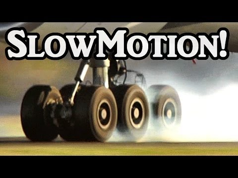 Slowmotion Landings (Boeing 777, Airbus A340, Boeing 757, ect) Full HD1080p