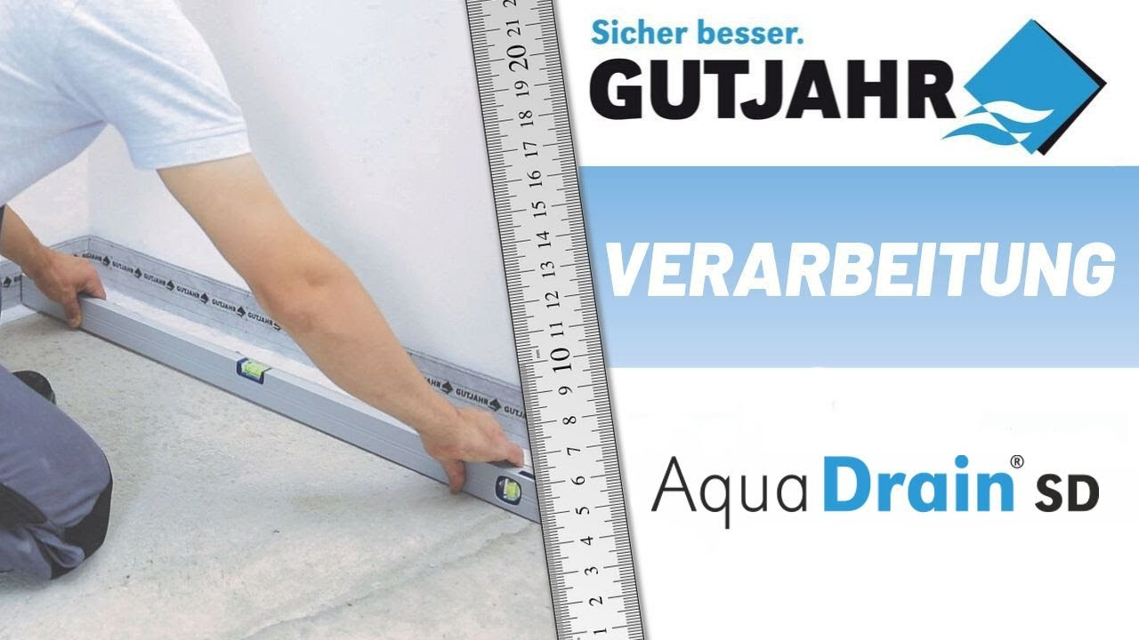 Treppe Aufdoppeln Aquadrain Sd Die Stufendrainage Youtube