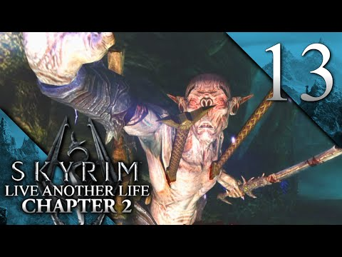 SECRET FALMER RUINS - Skyrim: Live Another Life Ch. 2 Let's Play 13 (Mods/PC)