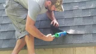 Worlds Fastest Shingler barn roof